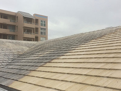 Roof Flat Tile Sm Pressure Washing And Pressure Cleaning